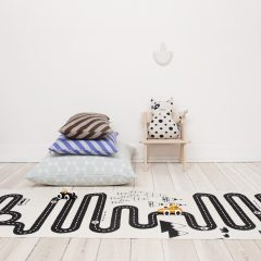 OYOY adventure rug, off white & black, 100% cotton