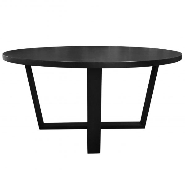 Quarter round dining table raw sunshine coast custom for Black round dining table