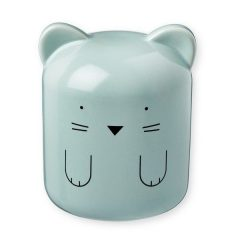 Porcelain money box cat, blue