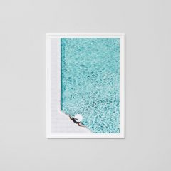 By the pool print, 114 x 85 cm