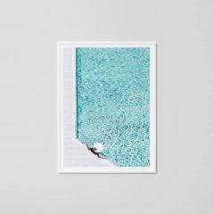 By the pool print, 114 x 85 cm