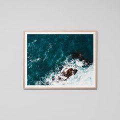 Middle of Nowhere Rocky Coastline framed print, 101x81cm