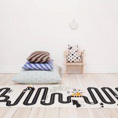 OYOY adventure rug, off white & black, 100% cotton