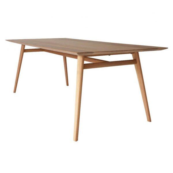 Floor Stock Austin Dining Table American Oak 2130mm Shark Nose Edge Raw Sunshine Coast