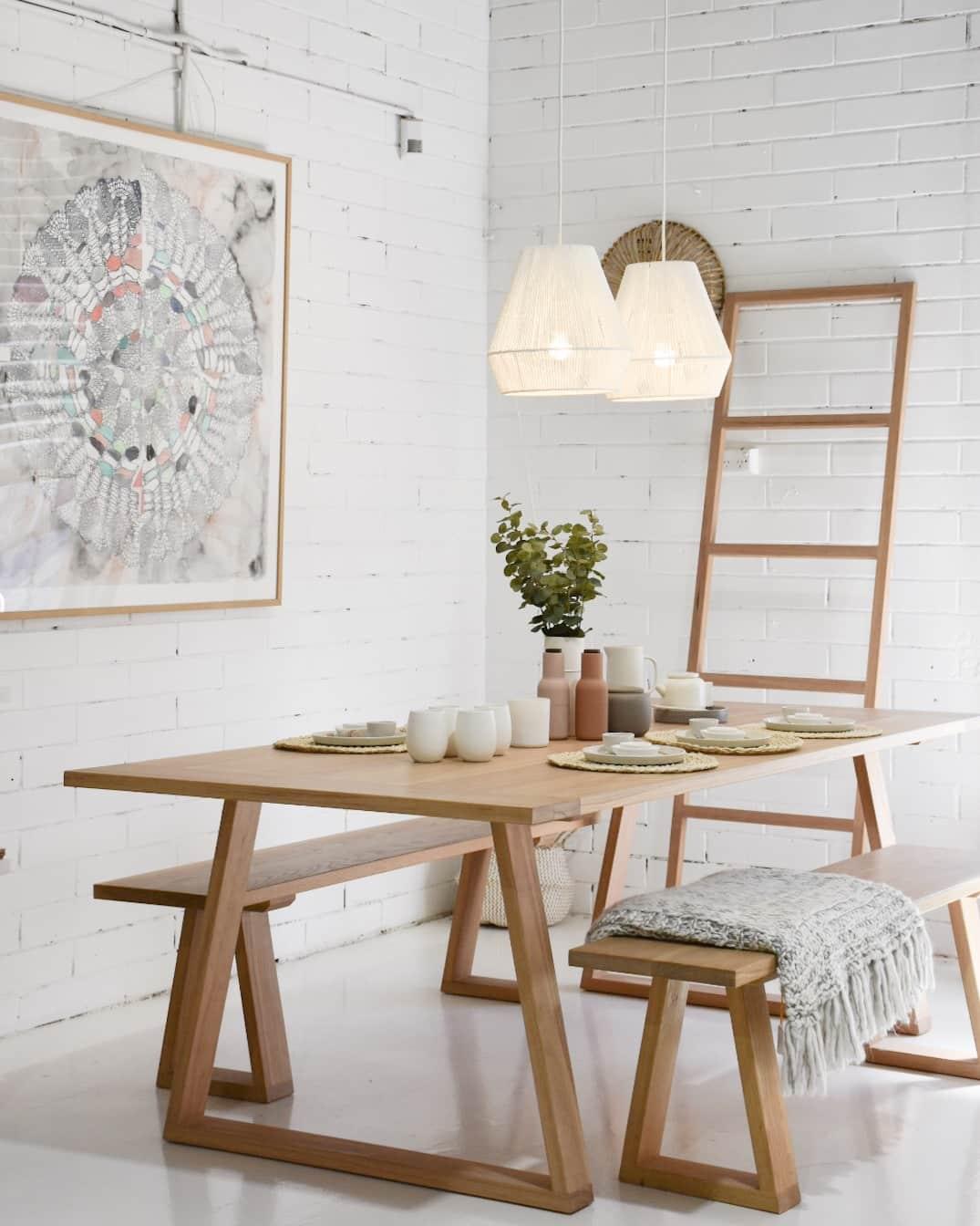timber dining table Sunshine Coast