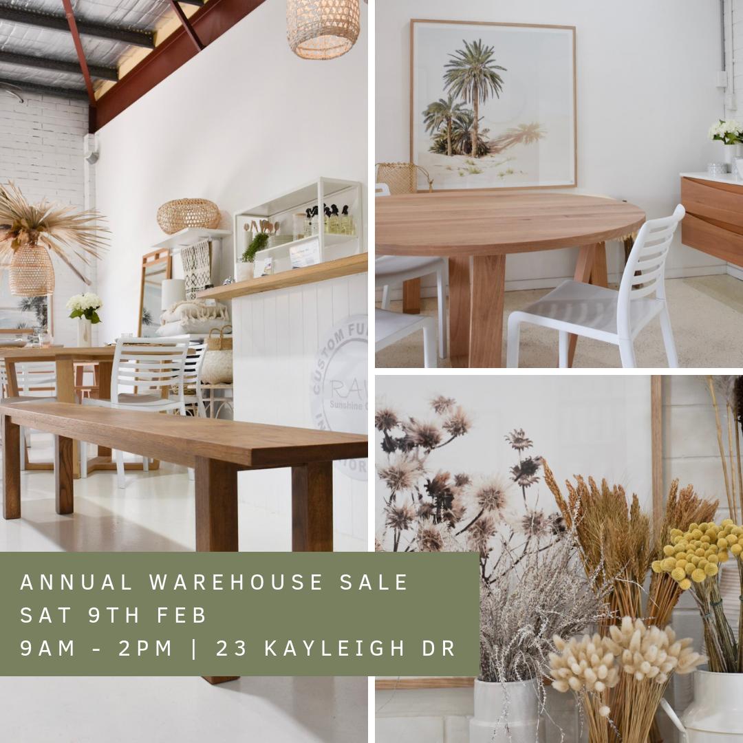 RAW Sunshine Coast's annual warehouse sale